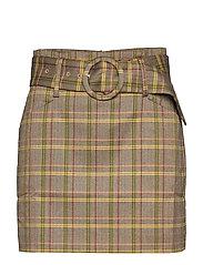 Check miniskirt - BRIGHT YELLOW