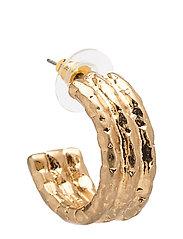 Metallic hoop earrings - GOLD