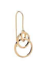 Hoop pendant earrings - GOLD