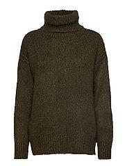 Turtle neck sweater - BEIGE - KHAKI