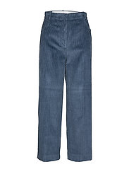 Cotton corduroy trousers - MEDIUM BLUE