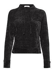 Knit sweatshirt - BLACK