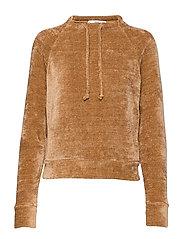 Knit sweatshirt - MEDIUM BROWN