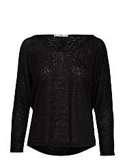 Essential flecked t-shirt - BLACK