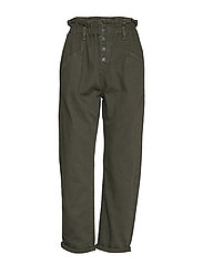 Paper bag jeans - MEDIUM GREEN