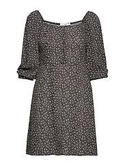 Printed short dress - NATURAL WHITE
