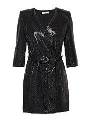 Sequined shift dress - BLACK