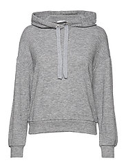 Flecked hoodie - MEDIUM GREY