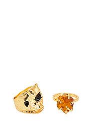 Resin ring set - GOLD