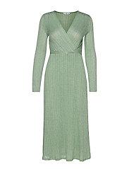 Metallic thread dress - GREEN