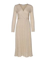 Metallic thread dress - LIGHT BEIGE