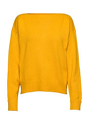 Boat neck sweater - YELLOW