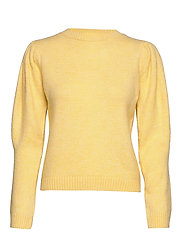 Ribbed knit sweater - YELLOW