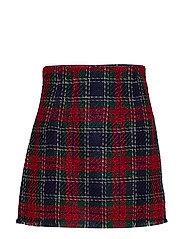 Tweed miniskirt - RED