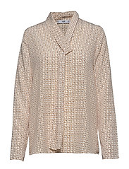 Bow printed blouse - WHITE