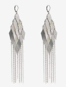 BAKLAVA - statement-øredobber - silver