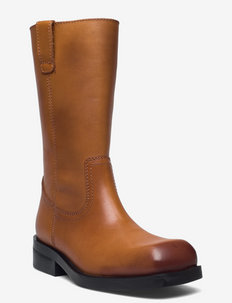 MOTO - long boots - brown