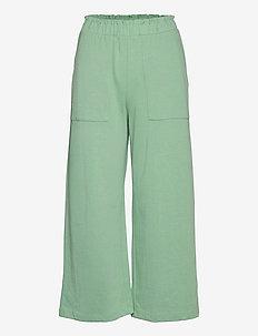 CLAY - bukser med brede ben - pastel green
