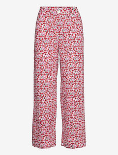 SIMONE - bukser med brede ben - ecru