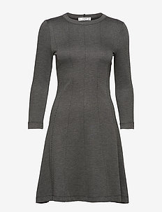 Fitted jersey dress - GREY