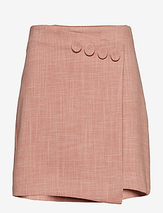 Button detail miniskirt - PINK