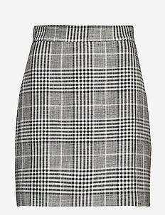 Check miniskirt - GREY