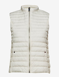 Quilted gilet - NATURAL WHITE