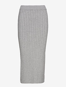 Cable knit skirt - MEDIUM GREY