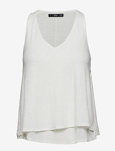 Ribbed strap t-shirt - NATURAL WHITE