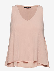 Ribbed strap t-shirt - PINK