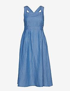 Soft denim dress - OPEN BLUE