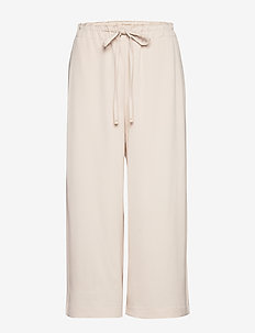 Drawstring culottes trousers - NATURAL WHITE