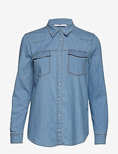 Chest-pocket denim shirt - OPEN BLUE