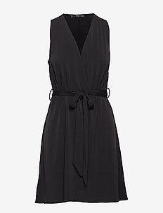 Bow short dress - BLACK