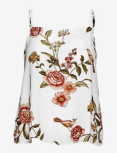 Printed strap top - NATURAL WHITE