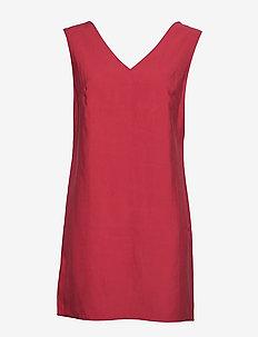Tortoiseshell buckle dress - MEDIUM RED