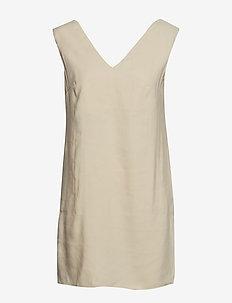 Tortoiseshell buckle dress - YELLOW