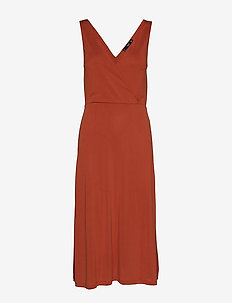 Midi modal dress - RUST - COPPER