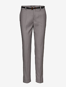 Belt straight-fit trousers - GREY