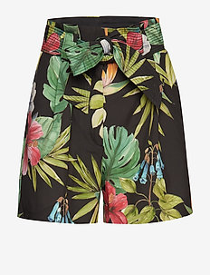 Tropical print shorts - BLACK