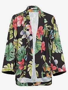 Tropical Kimono - BLACK