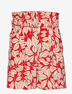 High-waist shorts - RED