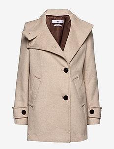 Buttoned wool coat - LT PASTEL GREY