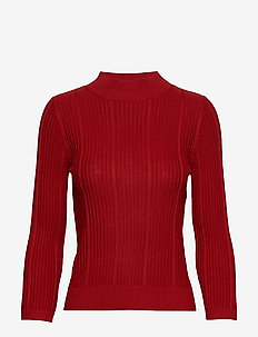 Ribbed sweater - RED