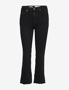 Crop flared jeans - OPEN GREY