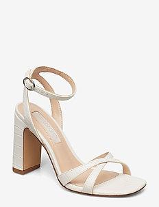 Croc-effect sandals - NATURAL WHITE
