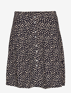 Buttons flared skirt - NAVY