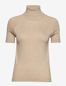 Turtleneck top - LT PASTEL BROWN