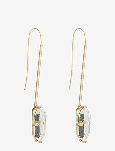 Stone metallic earrings - GOLD