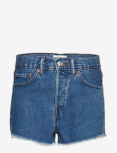 Frayed denim shorts - OPEN BLUE